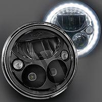 Набор светодиодных фар головного света Prolight Vortex XIL-7RDB KIT черный хром
