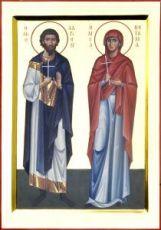 Адриан и Наталия (рукописная икона)