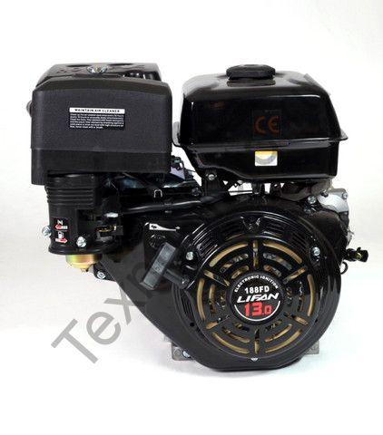 Двигатель Lifan 188F D25 (13 л. с.) с катушкой освещения 7Ампер (84Вт)