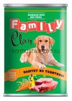 Clan FAMILY консервы для собак паштет из телятины