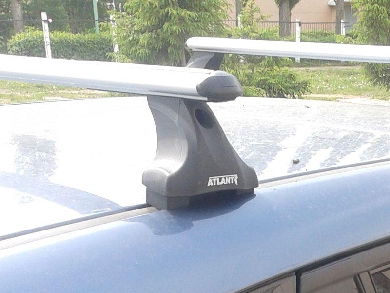 Багажник на крышу Mazda 3 (BL) 2009-13, Атлант, аэродинамические дуги, опора E