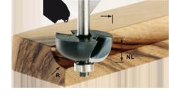 Фреза для выборки желобка HW с хвостовиком 8 мм HW S8 D25,5/R6,35 KL