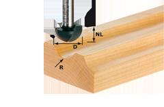 Фреза для выборки желобка HW с хвостовиком 8 мм HW S8 R8
