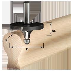 Фреза скругляющая HW с хвостовиком 12 мм Festool