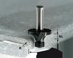 Фреза скругляющая HW с хвостовиком 12 мм HW R12.7/D41.4 ss S12