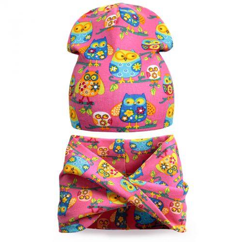 Комплект шапка и шарф для девочки 3-5 лет №SG107