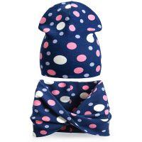 Комплект шапка и шарф для девочки 3-5 лет №SG105