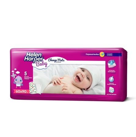 Детские впитывающие пеленки Helen Harper 60x90 5 шт