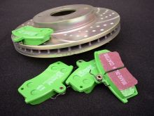 Тормозные колодки EBC, серия Green Stuff, задние, на 5D с V - 1.8