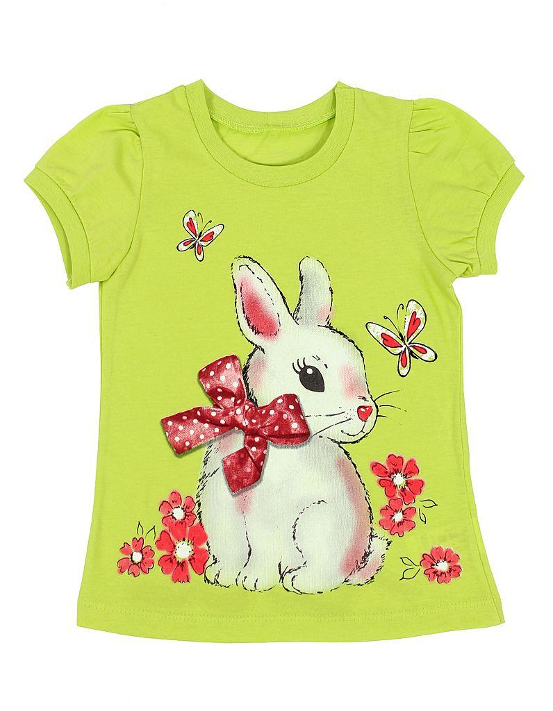 Чудесная блуза для девочки Кролик с бантом