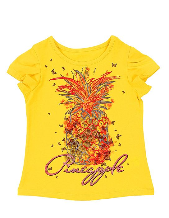 Блуза для девочки Ананас цвет лимонный