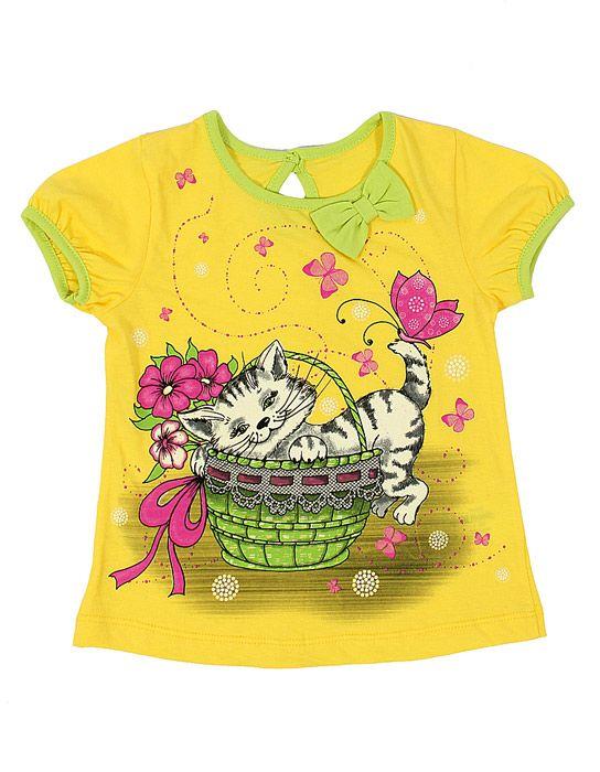 Блуза для девочки Котёнок цвет лимон