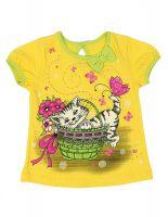 Блуза для девочки желтая