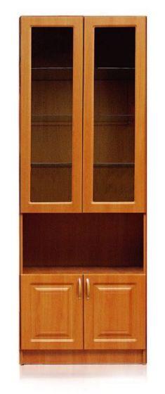 Шкаф 2 стекло двери, 2 двери Шкаф Аливия  Модуль 8.