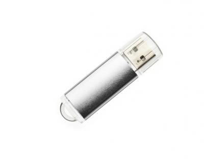 16GB USB-флэш корпус для накопитель Apexto U307B, серебро с прозрачным колпачком