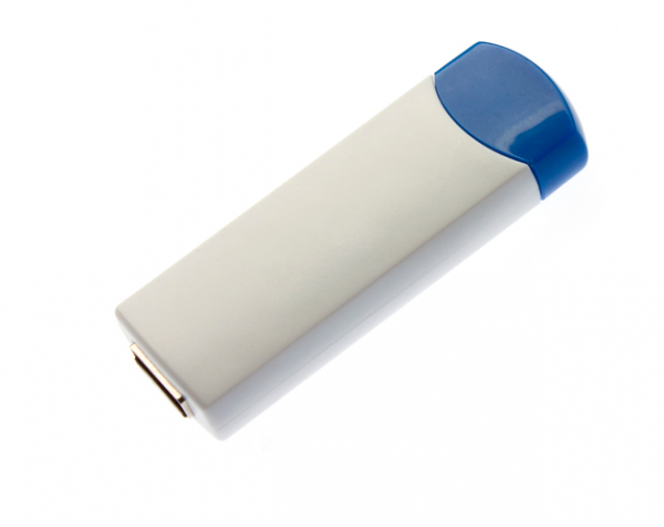 8GB USB-флэш корпус для флешки UsbSouvenir ROTATE-A, белая-синяя
