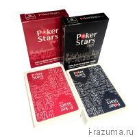 """Карты Пластиковые (100% пластик) """"Poker Stars.net"""""""