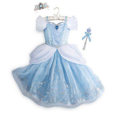 Платье Золушки Делюкс светящийся с аксессуарами Дисней
