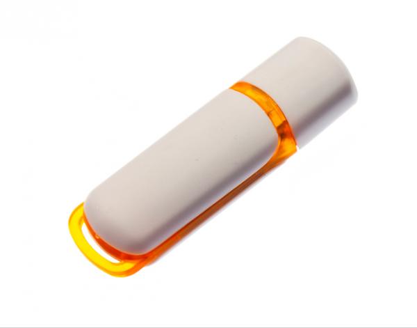 16GB USB-флэш корпус для флешки UsbSouvenir 235, белая-оранжевая
