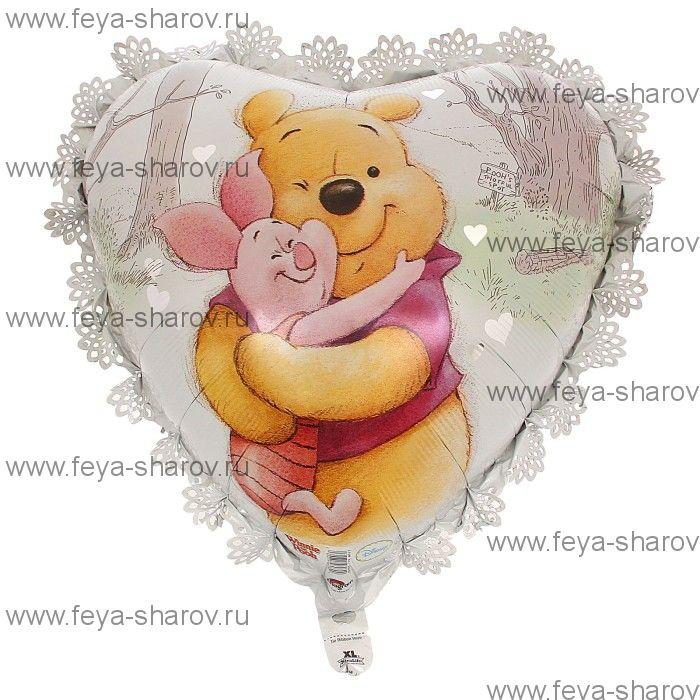 Шар сердце Винни 20*55 см