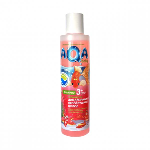 AQA Baby Kids Шампунь для длинных и непослушных волос, 210 мл