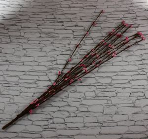 Веточка проволока 40 см. Цвет светло-розовый (1 упаковка = 50 шт)