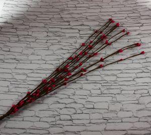 `Веточка проволока 40 см. Цвет ярко-розовый