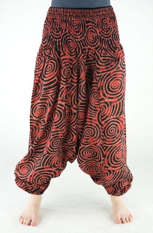 КОРИЧНЕВЫЕ женские штаны алладины со спиральками (Москва)