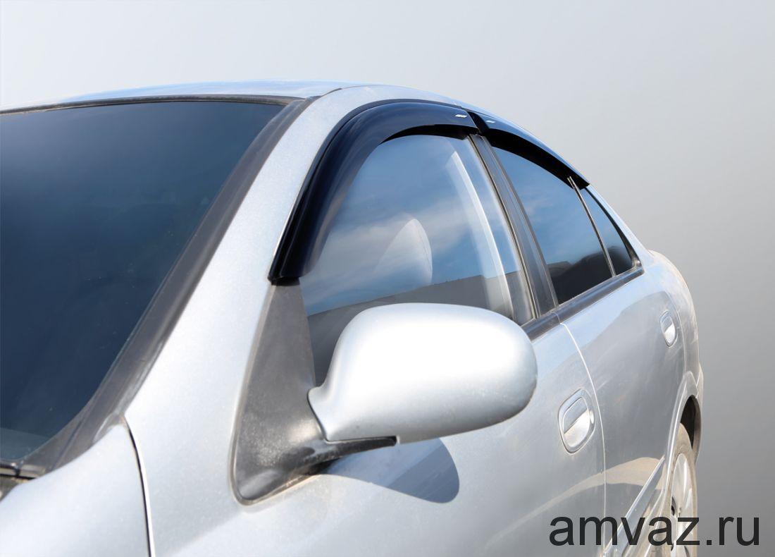 Дефлекторы на боковые стекла Voron Glass серия CORSAR Ford S-Max I 2006-н.в./минивэн/накладные/скотч /к-т 4 шт./