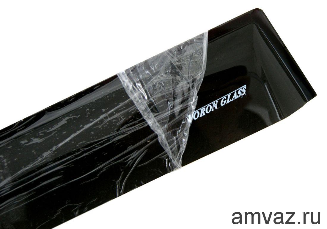 Дефлекторы на боковые стекла Voron Glass серия CORSAR Geely MK 2008-н.в./седан/накладные/скотч /к-т 4 шт./