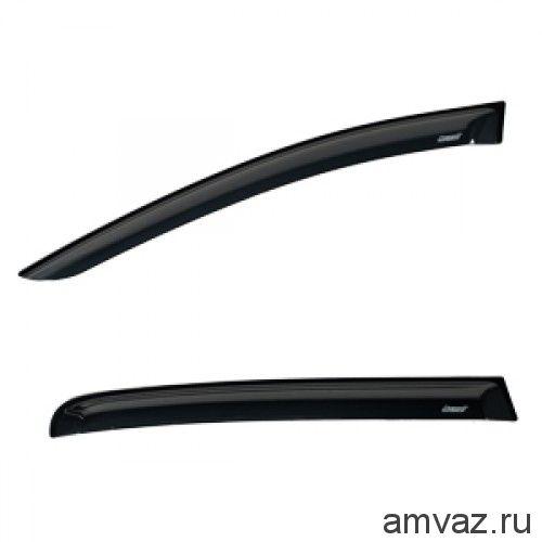 Дефлекторы на боковые стекла Voron Glass серия CORSAR Honda Civic IX 2012-н.в./седан/накладные/скотч /к-т 4 шт./