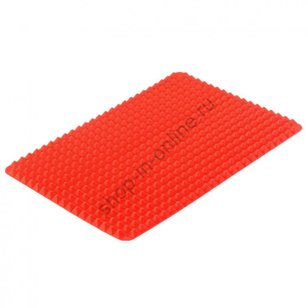 Тонкий силиконовый корик для впечки Красный 1шт  ZK49200