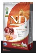 N&D Dog Grain Free Pumpkin Chicken & Pomegranate Mini Adult Беззерновой корм для взрослых собак мелких пород Курица/тыква/гранат (2,5 кг)
