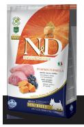 N&D Dog Grain Free Pumpkin Lamb & Blueberry Mini Adult Беззерновой корм для взрослых собак мелких пород Ягненок/тыква/черника (2,5 кг)