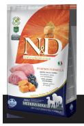 N&D Dog Grain Free Pumpkin Lamb & Blueberry Medium&Maxi Adult Беззерновой корм для взрослых собак средних и крупных пород Ягненок/тыква/черника (2,5 кг)