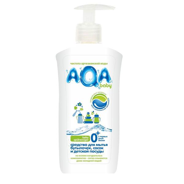 AQA baby Средство для мытья бутылочек, сосок и детской посуды, 500 мл.
