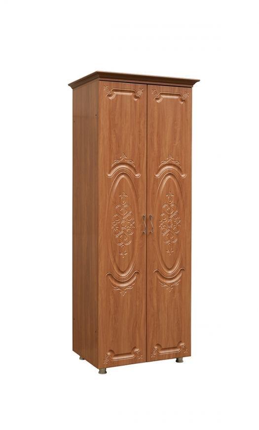 Шкаф  2-х дверный со штангой (к гостиной Глория-10)  модуль 01   МДФ глянец