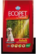 Ecopet Natural Adult Mini Корм для взрослых собак с курицей (12 кг)