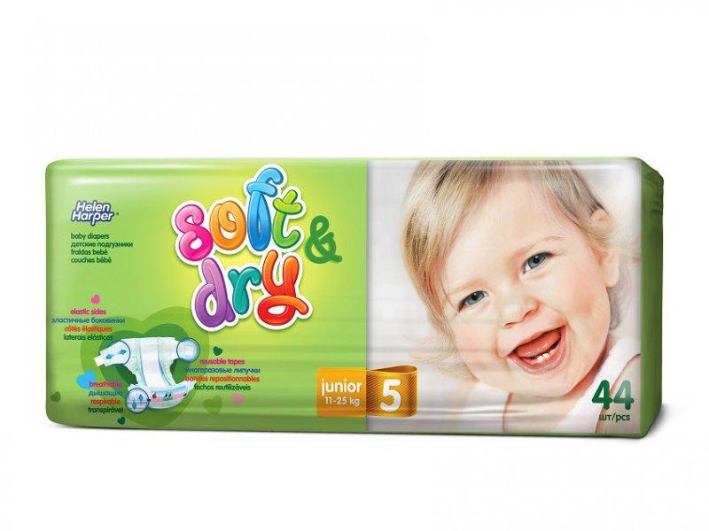 Helen Harper  Детские подгузники Soft Dry junior (11-25 кг) 44 шт