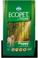 Ecopet Natural Puppy Medium Корм для щенков, беременных и лактирующих сук с курицей (2,5 кг)