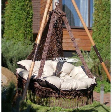 Подвесное кресло КАРТАХЕНА + каркас МАЙЯ (дерево)
