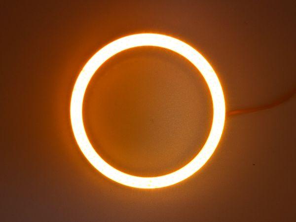 Светодиодные дневные ходовые огни — Ангельские глазки желтого цвета 60 мм. 1шт.