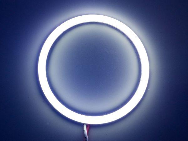 Светодиодные дневные ходовые огни — Ангельские глазки белого цвета 70 мм. 1шт.