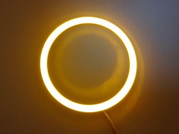 Светодиодные дневные ходовые огни — Ангельские глазки желтого цвета 70 мм. 1шт.
