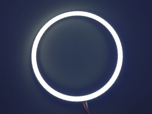 Светодиодные дневные ходовые огни — Ангельские глазки белого цвета 90 мм. 1шт.