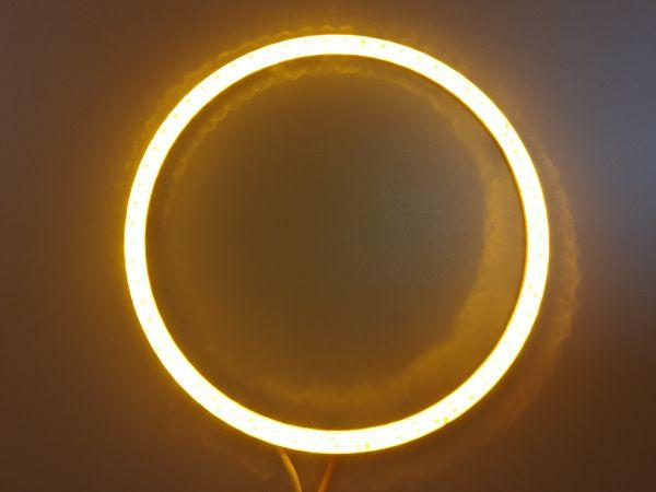 Светодиодные дневные ходовые огни — Ангельские глазки желтого цвета 90 мм. 1шт.