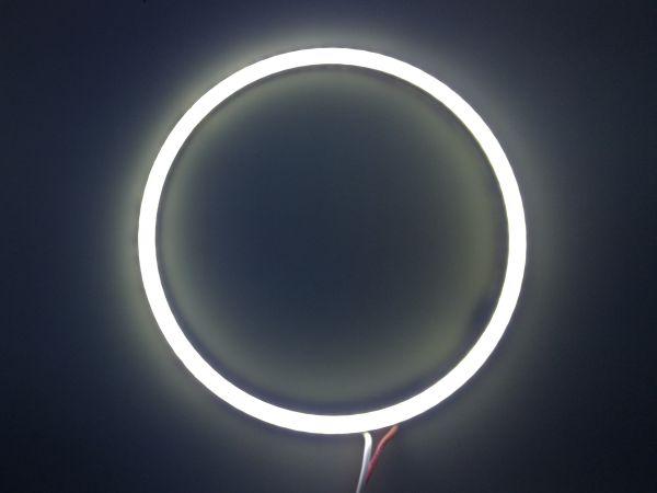 Светодиодные дневные ходовые огни — Ангельские глазки белого цвета 100 мм. 1шт.