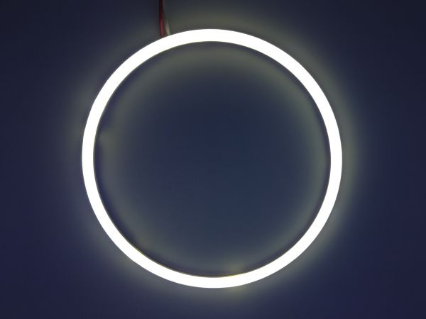 Светодиодные дневные ходовые огни — Ангельские глазки белого цвета 120 мм. 1шт.
