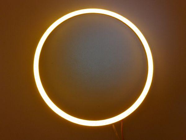 Светодиодные дневные ходовые огни — Ангельские глазки желтого цвета 110 мм. 1шт.