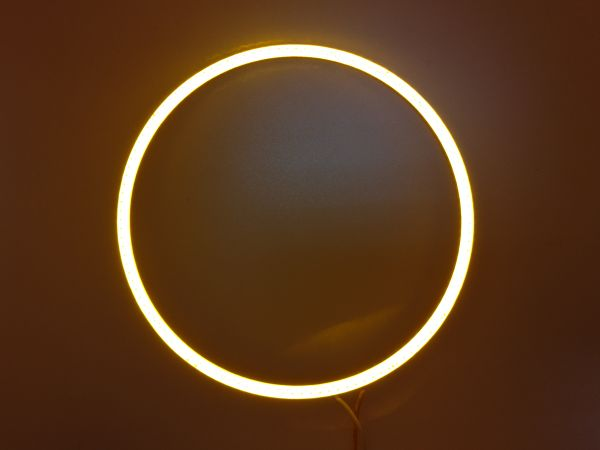 Светодиодные дневные ходовые огни — Ангельские глазки желтого цвета 130 мм. 1шт.